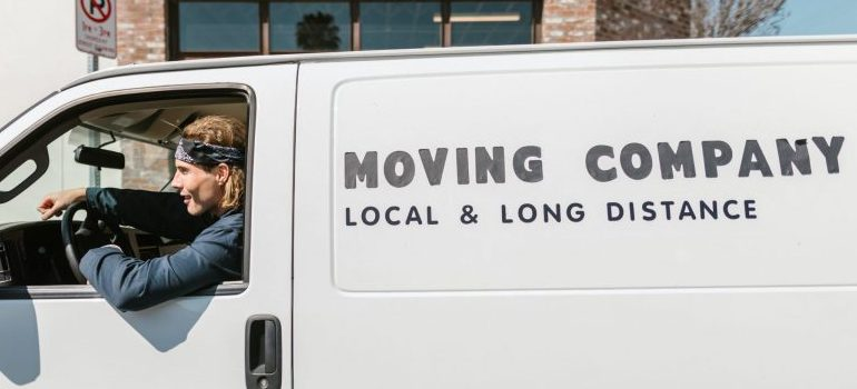 one of the movers Somersworth NH, driving a van