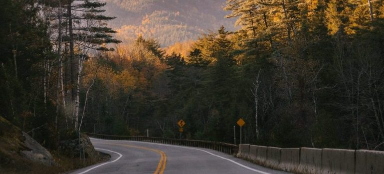 The road for moving from Rochester to Dover NH